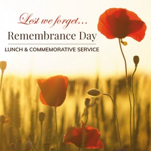 Remembrance Day Lunch & Commemorative Service