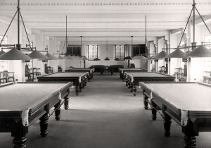 NSW Masonic Club History - Snooker Room