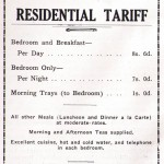 Club Tariff Advertisement 1939