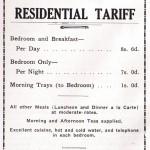 Club Tariff Advertisement 1939