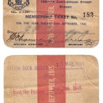 Club Membership Card 1945