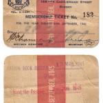 Club Membership Card 1945