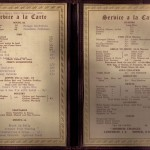 Dining Room Menu 1939