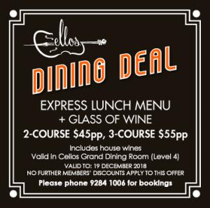 Dining-Deal_Cellos-Restaurant_NSW-Masonic-Club-Sydney